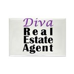 Diva Real estate Agent Rectangle Magnet (10 pack)