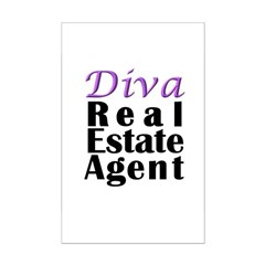 Diva Real estate Agent Posters