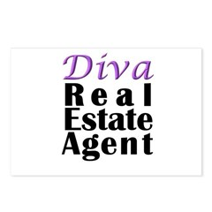 Diva Real estate Agent Postcards (Package of 8)
