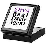 Diva Real estate Agent Keepsake Box