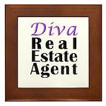 Diva Real estate Agent Framed Tile