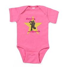 Dancing with Sasquatch Baby Bodysuit