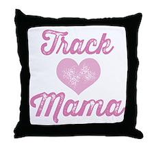 Track Mom Throw Pillow