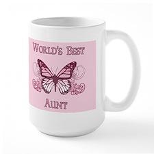 World's Best Aunt (Butterfly) Mug