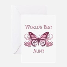 World's Best Aunt (Butterfly) Greeting Card