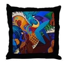 Musicians Jazz Duo Grpahic Print Throw Pillow
