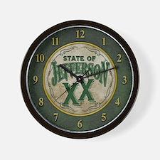 Jefferson XX State Wall Clock