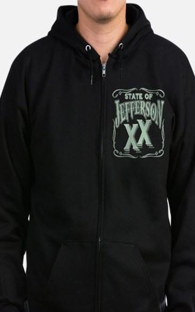Jefferson XX State Zip Hoodie (dark)