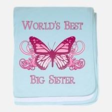 World's Best Big Sister (Butterfly) baby blanket