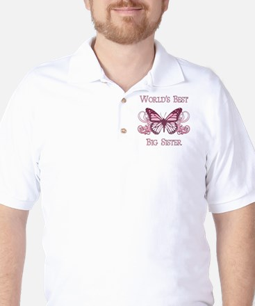 World's Best Big Sister (Butterfly) Golf Shirt