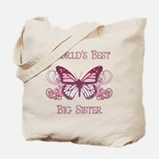 World's Best Big Sister (Butterfly) Tote Bag