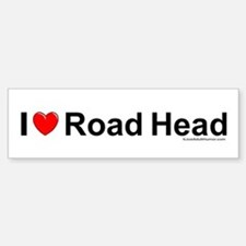 Road Head Bumper Bumper Sticker