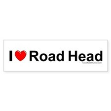Road Head Bumper Sticker