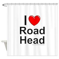 Road Head Shower Curtain