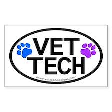 Vet Tech Oval Rectangular Decal