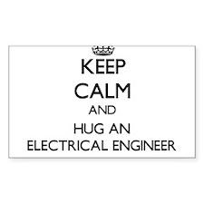 Keep Calm and Hug an Electrical Engineer Decal