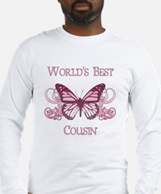 World's Best Cousin (Butterfly) Long Sleeve T-Shir