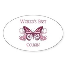 World's Best Cousin (Butterfly) Decal