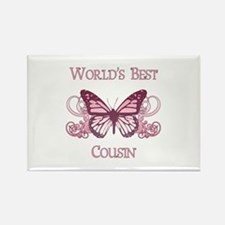 World's Best Cousin (Butterfly) Rectangle Magnet