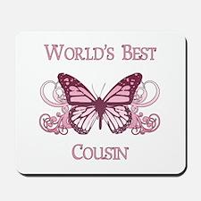 World's Best Cousin (Butterfly) Mousepad