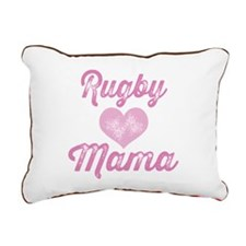 Rugby Mom Rectangular Canvas Pillow