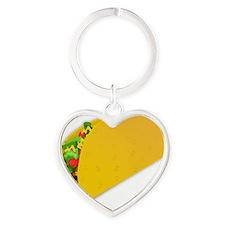 taco vector illustration Heart Keychain