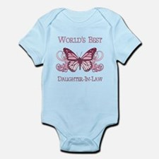 World's Best Daughter-In-Law (Butterfly) Infant Bo
