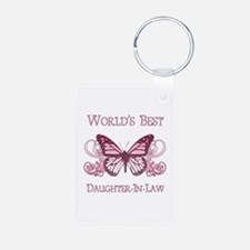 World's Best Daughter-In-Law (Butterfly) Keychains