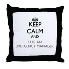 Keep Calm and Hug an Emergency Manager Throw Pillo