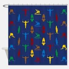 Mens Gymnastics Shower Curtain