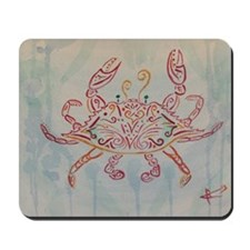 Blue crab in red Mousepad