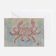 Blue crab in red Greeting Card