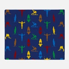 Mens Gymnastics Throw Blanket