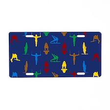 Mens Gymnastics Aluminum License Plate