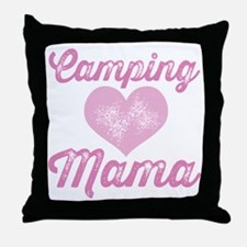 Camping Mom Throw Pillow