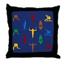 Mens Gymnastics Throw Pillow