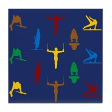 Mens Gymnastics Tile Coaster