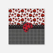 "Ladybugs Square Sticker 3"" x 3"""
