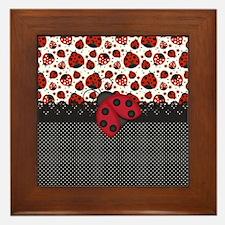Ladybugs Framed Tile