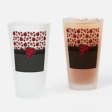 Ladybugs Drinking Glass