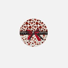 Dancing Ladybugs Mini Button