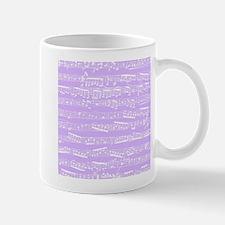 Lilac purple music notes Mugs