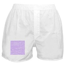 Lilac purple music notes Boxer Shorts