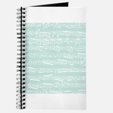 Mint Blue music notes Journal