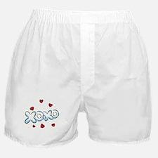 XOXO with Hearts Boxer Shorts