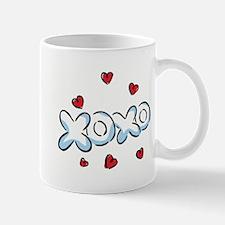 XOXO with Hearts Mug
