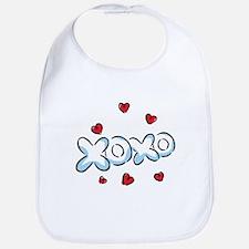 XOXO with Hearts Bib