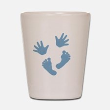 Baby Hands and Feet 2013 Blue Shot Glass