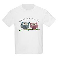 Owl always love cut cute Owls Art T-Shirt