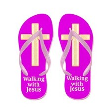 WALK WITH JESUS Flip Flops